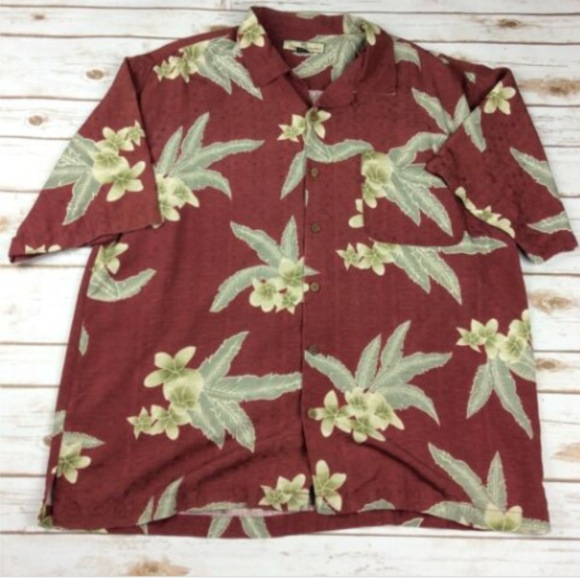 Tommy Bahama Other - Tommy Bahama Hawaiian  Red Floral 100% Silk